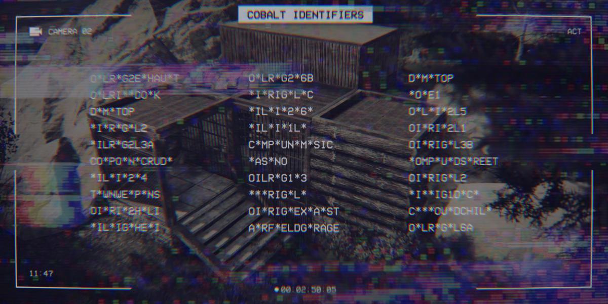 COBALT IDENTIFIERS MONUMENT CCTV CODES  [Verschlüsselt]