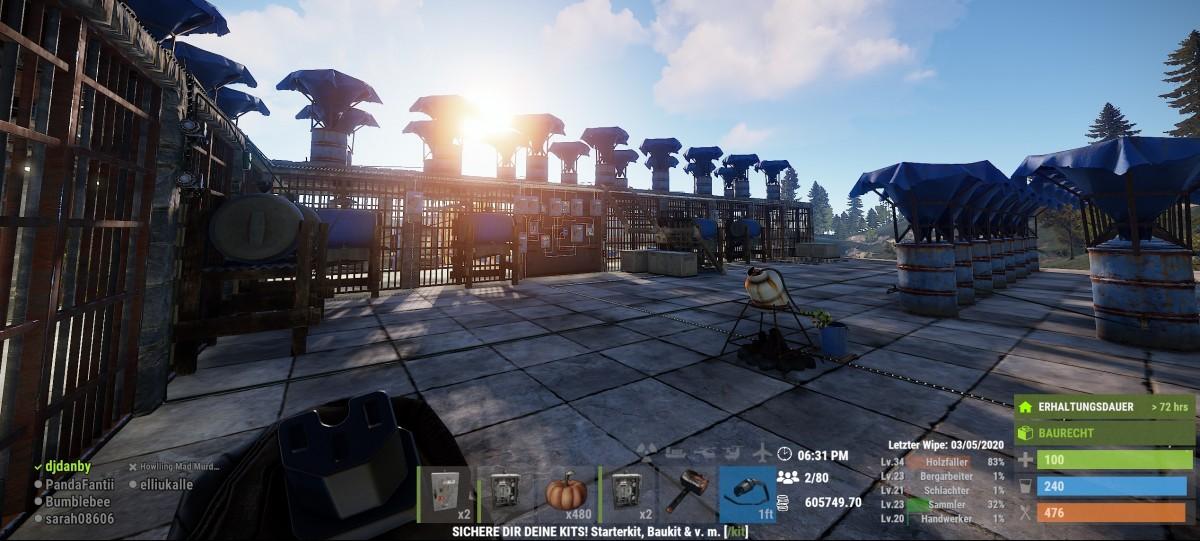 Mega Plantage mit automatischem Pumpenssystem
