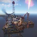 Große Ölplattform